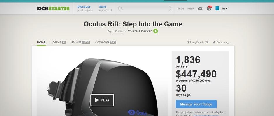 Oculus Rift – Kickstarter
