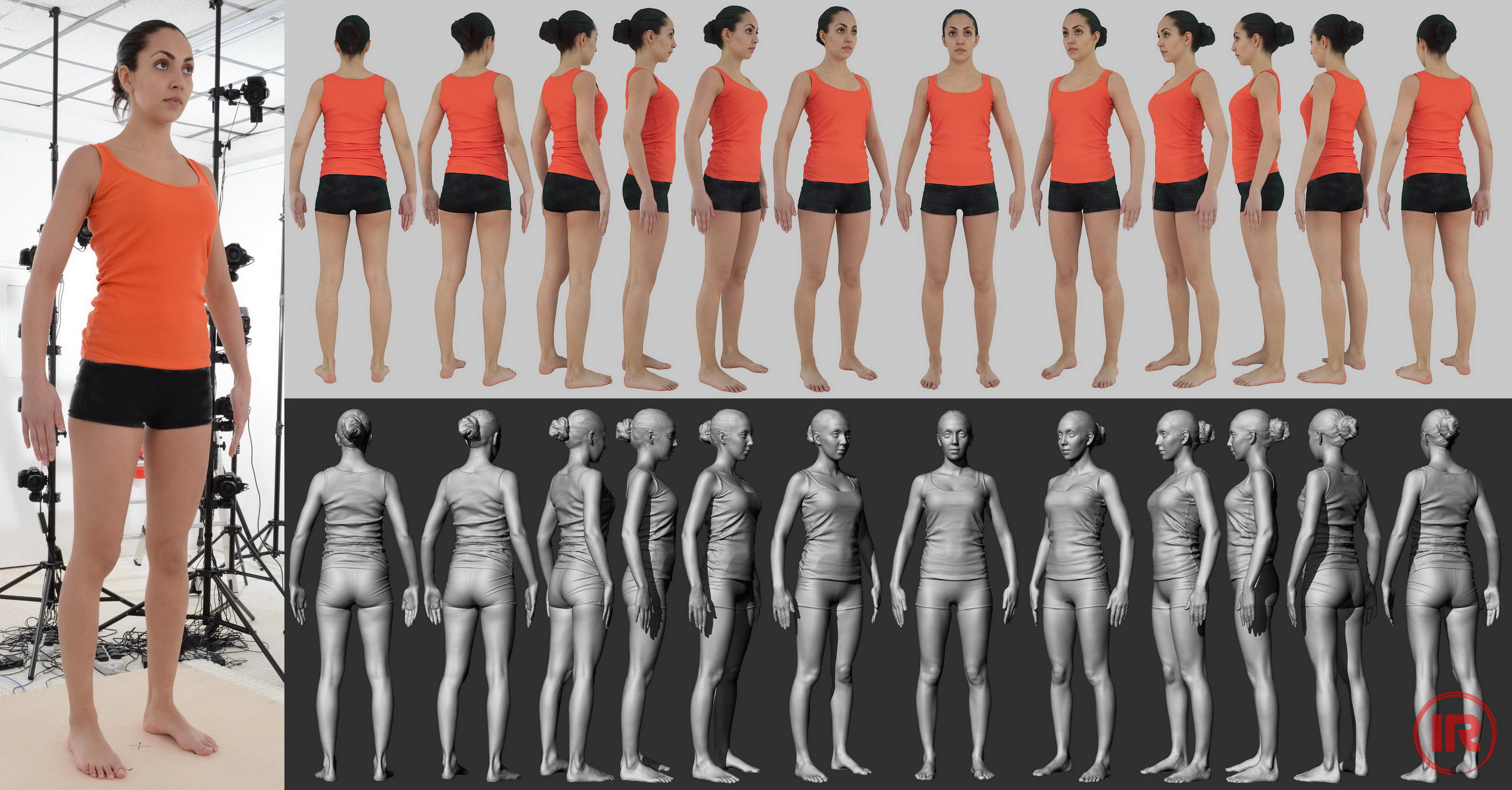 3d model scaned nude people nude comic
