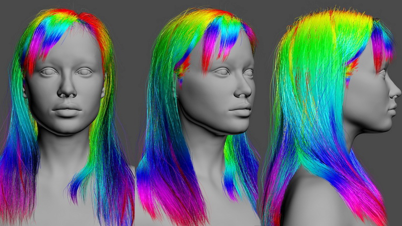 Real-time hair. In VR. Part01
